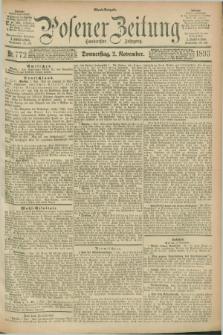 Posener Zeitung. Jg.100, Nr. 772 (2 November 1893) - Abend=Ausgabe.