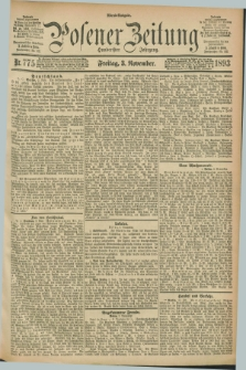 Posener Zeitung. Jg.100, Nr. 775 (3 November 1893) - Abend=Ausgabe.