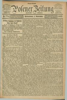 Posener Zeitung. Jg.100, Nr. 776 (4 November 1893) - Morgen=Ausgabe. + dod.