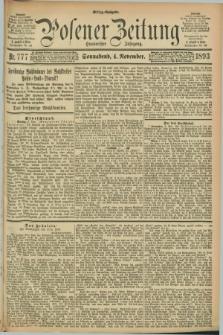 Posener Zeitung. Jg.100, Nr. 777 (4 November 1893) - Mittag=Ausgabe.