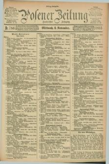 Posener Zeitung. Jg.100, Nr. 786 (8 November 1893) - Mittag=Ausgabe.