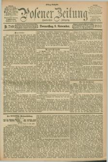 Posener Zeitung. Jg.100, Nr. 789 (9 November 1893) - Mittag=Ausgabe.