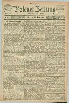 Posener Zeitung. Jg.100, Nr. 801 (14 November 1893) - Mittag=Ausgabe.