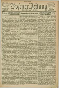 Posener Zeitung. Jg.100, Nr. 806 (16 November 1893) - Morgen=Ausgabe. + dod.