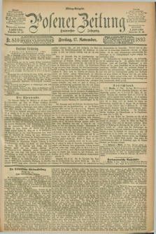 Posener Zeitung. Jg.100, Nr. 810 (17 November 1893) - Mittag=Ausgabe.