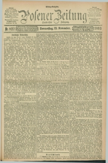 Posener Zeitung. Jg.100, Nr. 822 (23 November 1893) - Mittag=Ausgabe.