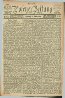 Posener Zeitung. Jg.100, Nr. 825 (24 November 1893) - Mittag=Ausgabe.