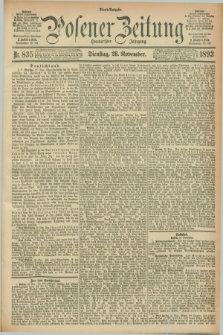 Posener Zeitung. Jg.100, Nr. 835 (28 November 1893) - Abend=Ausgabe.