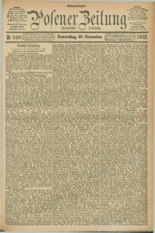 Posener Zeitung. Jg.100, Nr. 840 (30 November 1893) - Mittag=Ausgabe.