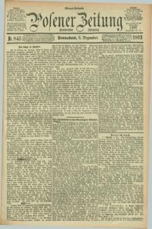 Posener Zeitung. Jg.100, Nr. 845 (2 Dezember 1893) - Morgen=Ausgabe. + dod.