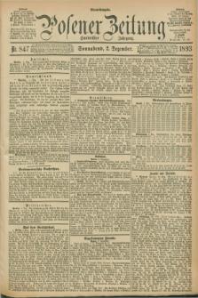 Posener Zeitung. Jg.100, Nr. 847 (2 Dezember 1893) - Abend=Ausgabe.