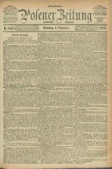 Posener Zeitung. Jg.100, Nr. 849 (4 Dezember 1893) - Mittag=Ausgabe.