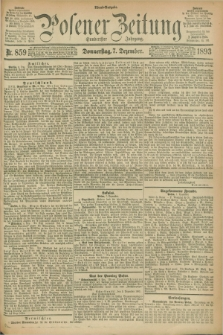 Posener Zeitung. Jg.100, Nr. 859 (7 Dezember 1893) - Abend=Ausgabe.