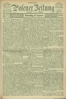 Posener Zeitung. Jg.100, Nr. 875 (14 Dezember 1893) - Morgen=Ausgabe. + dod.