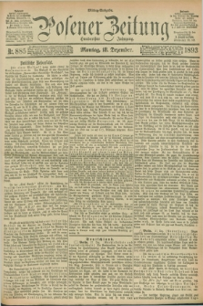 Posener Zeitung. Jg.100, Nr. 885 (18 Dezember 1893) - Mittag=Ausgabe.