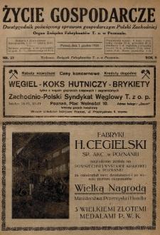 Życie Gospodarcze : dwutygodnik poświęcony sprawom gospodarczym Polski Zachodniej : organ Związku Fabrykantów T. Z. w Poznaniu. R. 8 (1929), nr23