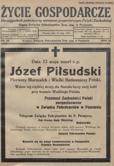 Życie Gospodarcze : dwutygodnik poświęcony sprawom gospodarczym Polski Zachodniej : organ Związku Fabrykantów Tow. zap. w Poznaniu. R. 14 (1935), nr10