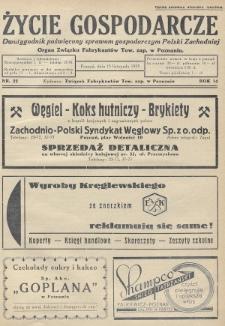 Życie Gospodarcze : dwutygodnik poświęcony sprawom gospodarczym Polski Zachodniej : organ Związku Fabrykantów Tow. zap. w Poznaniu. R. 14 (1935), nr22