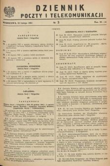 Dziennik Poczty i Telekomunikacji. 1951, nr 3 (20 lutego)