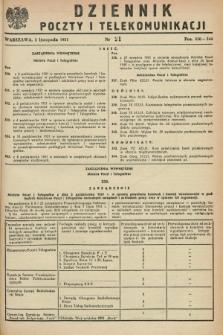 Dziennik Poczty i Telekomunikacji. 1951, nr 21 (5 listopada)