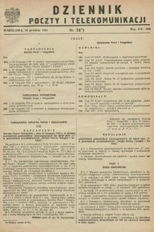 Dziennik Poczty i Telekomunikacji. 1951, nr 24 (20 grudnia)