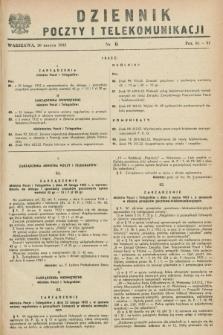 Dziennik Poczty i Telekomunikacji. 1952, nr 6 (20 marca)
