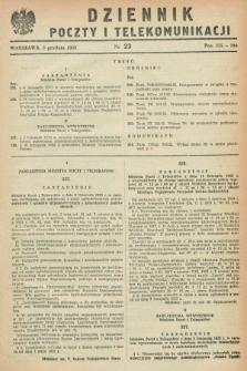 Dziennik Poczty i Telekomunikacji. 1952, nr 23 (5 grudnia)