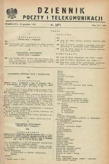 Dziennik Poczty i Telekomunikacji. 1952, nr 24 (20 grudnia)