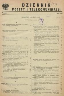 Dziennik Poczty i Telekomunikacji. 1953, Skorowidz alfabetyczny
