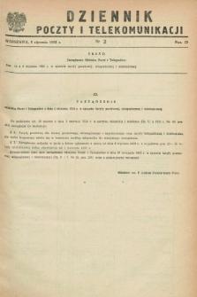 Dziennik Poczty i Telekomunikacji. 1953, nr 2 (6 stycznia)