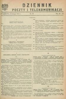 Dziennik Poczty i Telekomunikacji. 1953, nr 5 (20 lutego)