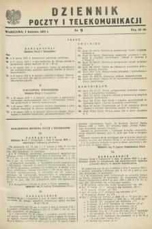 Dziennik Poczty i Telekomunikacji. 1953, nr 9 (7 kwietnia)