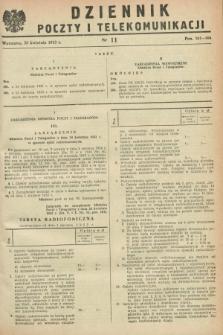 Dziennik Poczty i Telekomunikacji. 1953, nr 11 (27 kwietnia)