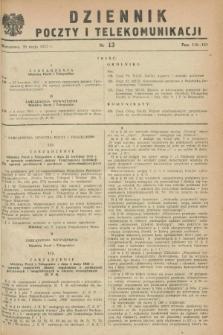 Dziennik Poczty i Telekomunikacji. 1953, nr 13 (20 maja) + dod.