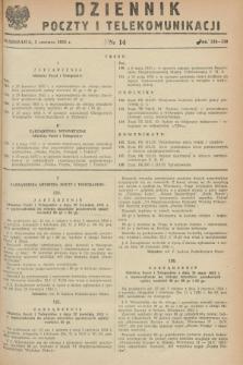Dziennik Poczty i Telekomunikacji. 1953, nr 14 (5 czerwca) + dod.