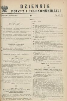 Dziennik Poczty i Telekomunikacji. 1953, nr 17 (20 lipca)