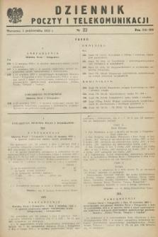 Dziennik Poczty i Telekomunikacji. 1953, nr 22 (5 października)