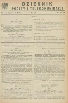 Dziennik Poczty i Telekomunikacji. 1953, nr 23 (20 października)