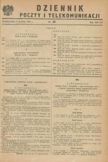 Dziennik Poczty i Telekomunikacji. 1953, nr 26 (5 grudnia)