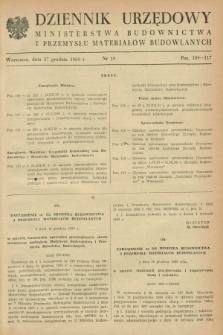 Dziennik Urzędowy Ministerstwa Budownictwa i Przemysłu Materiałów Budowlanych. 1960, nr 19 (27 grudnia)