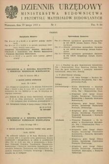Dziennik Urzędowy Ministerstwa Budownictwa i Przemysłu Materiałów Budowlanych. 1961, nr 3 (20 lutego)
