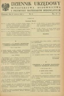 Dziennik Urzędowy Ministerstwa Budownictwa i Przemysłu Materiałów Budowlanych. 1962, nr 10 (20 czerwca)