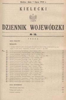 Kielecki Dziennik Wojewódzki. 1934, nr18