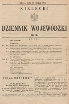 Kielecki Dziennik Wojewódzki. 1935, nr5