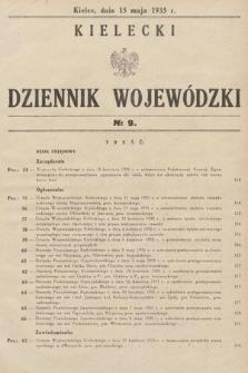 Kielecki Dziennik Wojewódzki. 1935, nr9