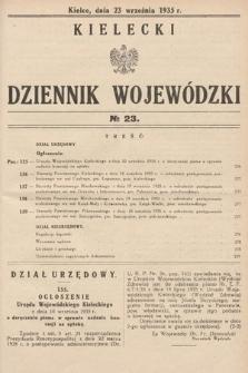 Kielecki Dziennik Wojewódzki. 1935, nr23
