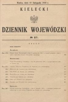 Kielecki Dziennik Wojewódzki. 1935, nr27