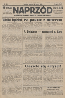 Naprzód : organ Polskiej Partji Socjalistycznej. 1934, nr64