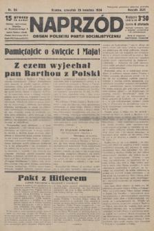 Naprzód : organ Polskiej Partji Socjalistycznej. 1934, nr94