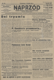 Naprzód : organ Polskiej Partji Socjalistycznej. 1934, nr314